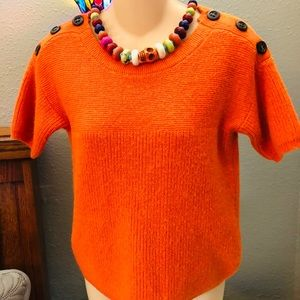 J.Crew Cute Orange Sweater Size Small